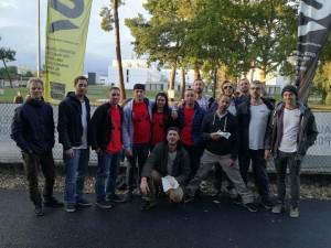 photo de l'équipe avec les copains de unity4ride